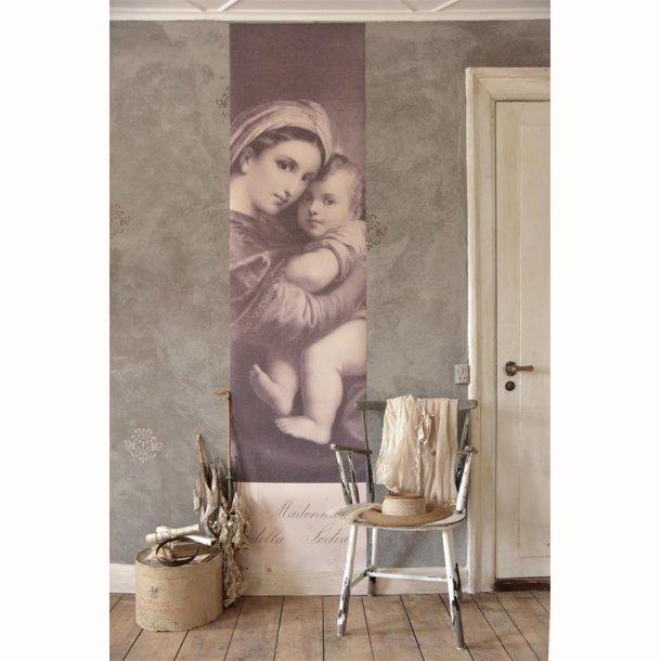 Kæmpe plakat med Madonna og barn