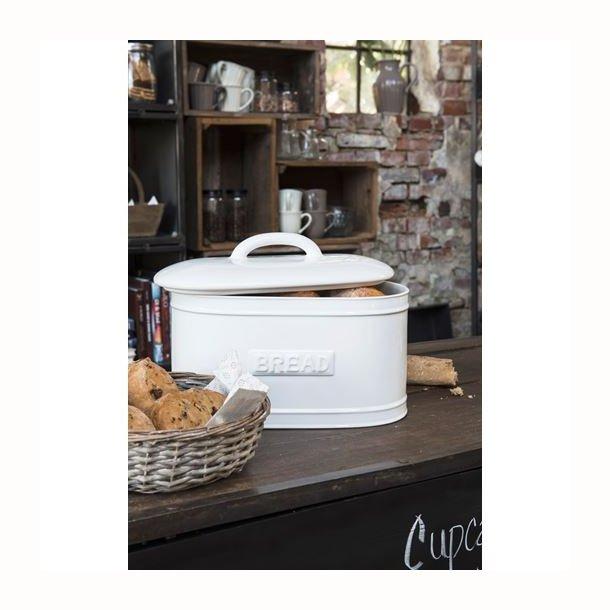 Brødbox oval hvid
