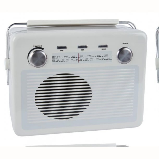 Dåse retro radio hvid