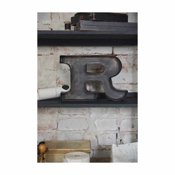 R-tegn 25 cm i Mørk metal