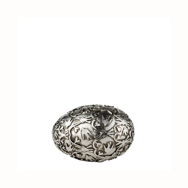 Semina æg, antik sølv