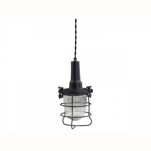 Factory arbejds Lampe m. glas