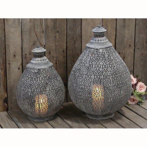 Fransk lanterne antique zink