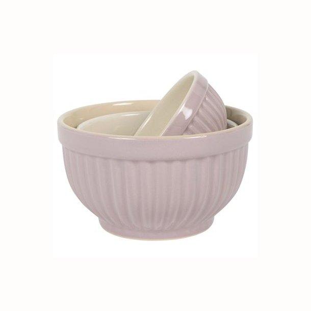Bowlesæt a 3 mini Mynte Lavender Haze