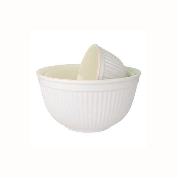 Bowlesæt a 3 Mynte Pure White
