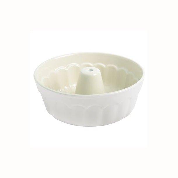 Bageform Mynte rund m/hul Pure White