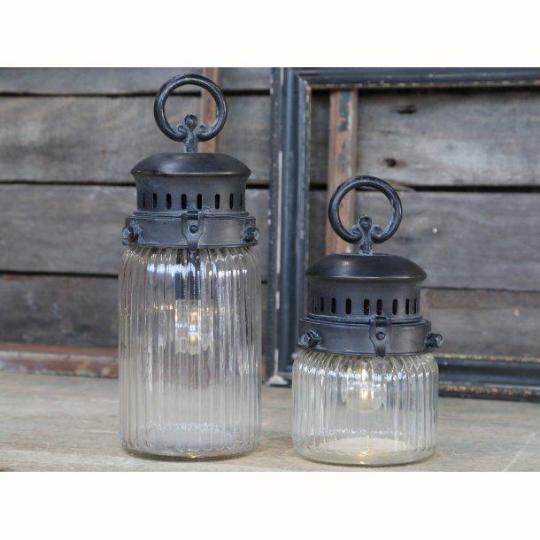 Fransk stald lanterne med timer