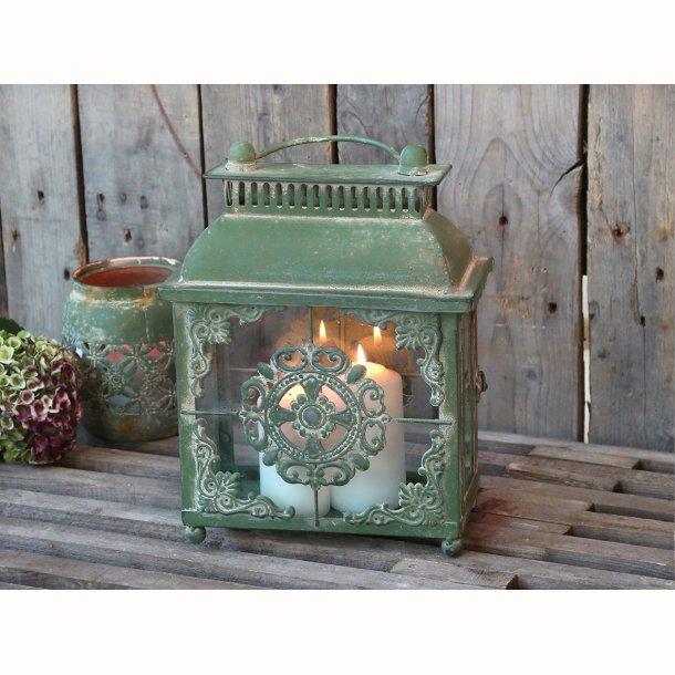 Lanterne antique grøn
