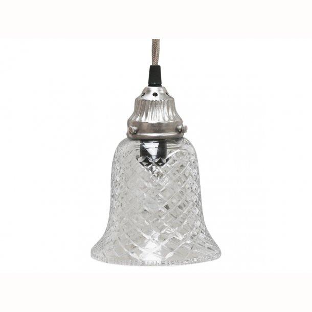 Lampe klokke glas