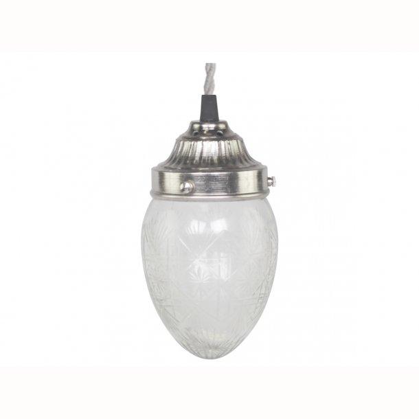 Lampe dråbeformet med slibninger