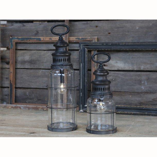 Fransk staldlanterne antique kul