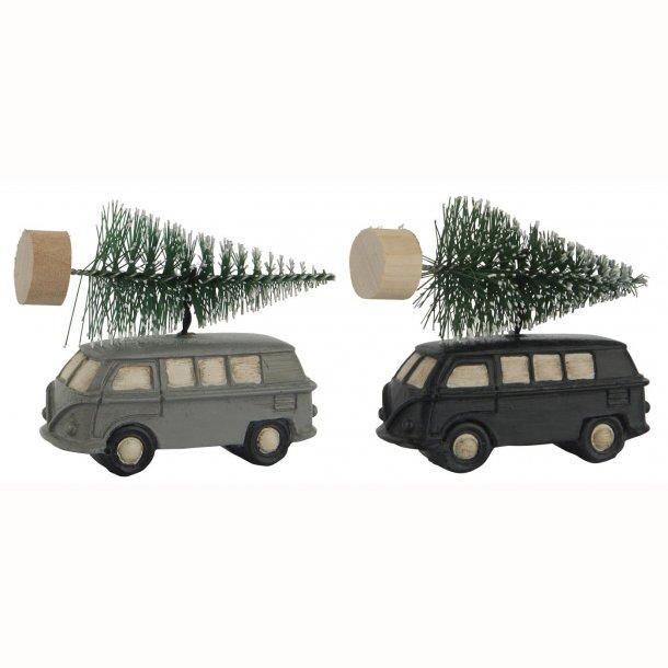 Bil 2 ass m/juletræ på taget t/ophæng