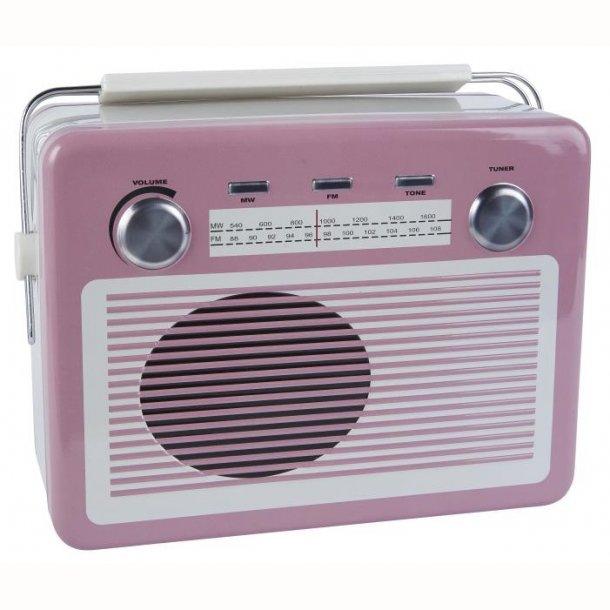 Dåse retro radio pink