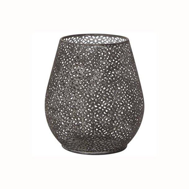 Buttet lanterne/vase m/hulmønster