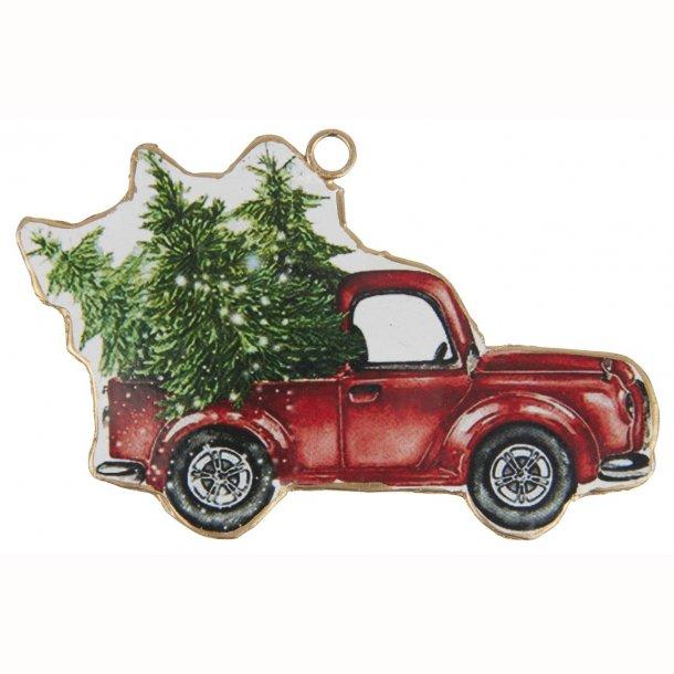Bil til ophæng med juletræ