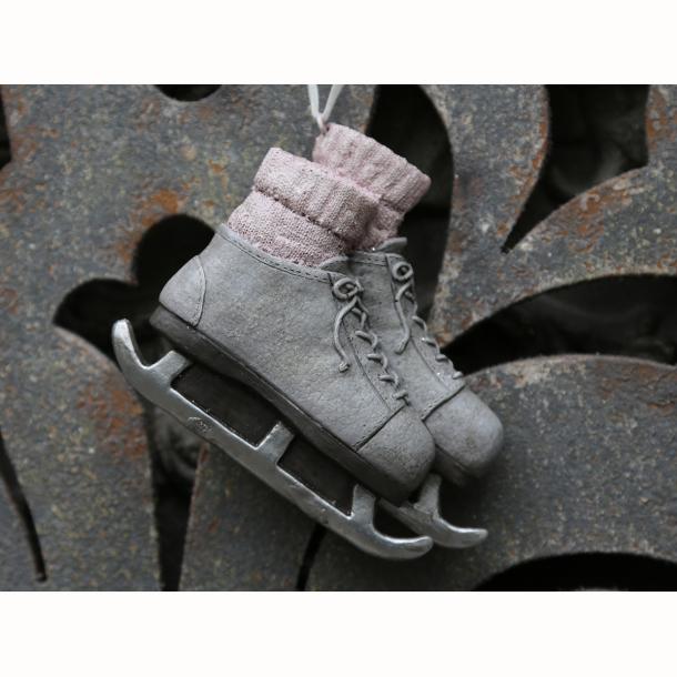 Vintage skøjter m.sokker