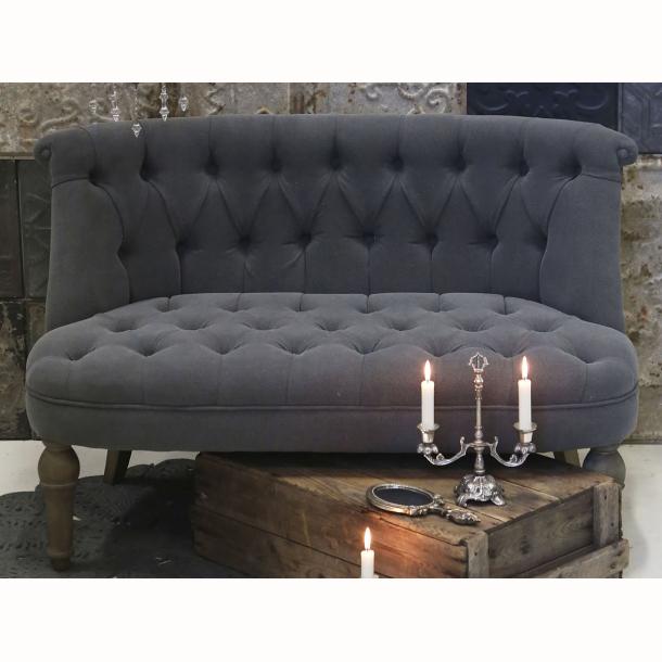 Fransk sofa m. hørstof. Kul